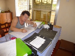 'Kitchen table' charity.  Ledgers and invoices - I know how to have a good time!