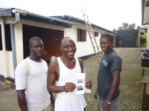 A happy Lawrence, they did get all the building jobs done & were rewarded with their picture in the newsletter!